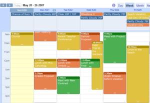 Gmail Calendar semáforo